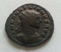 AE-Antoninián, SOL vlevo, Aurelianus, 270-75, Řím-císařství