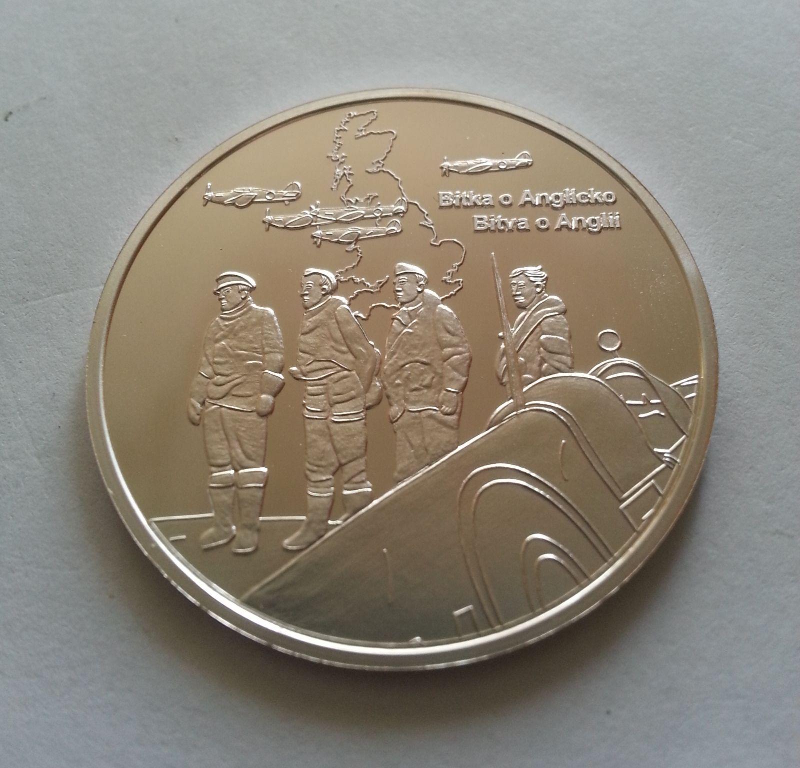 bitva o Anglii, Ag medaile, (průměr 32 mm), ČR