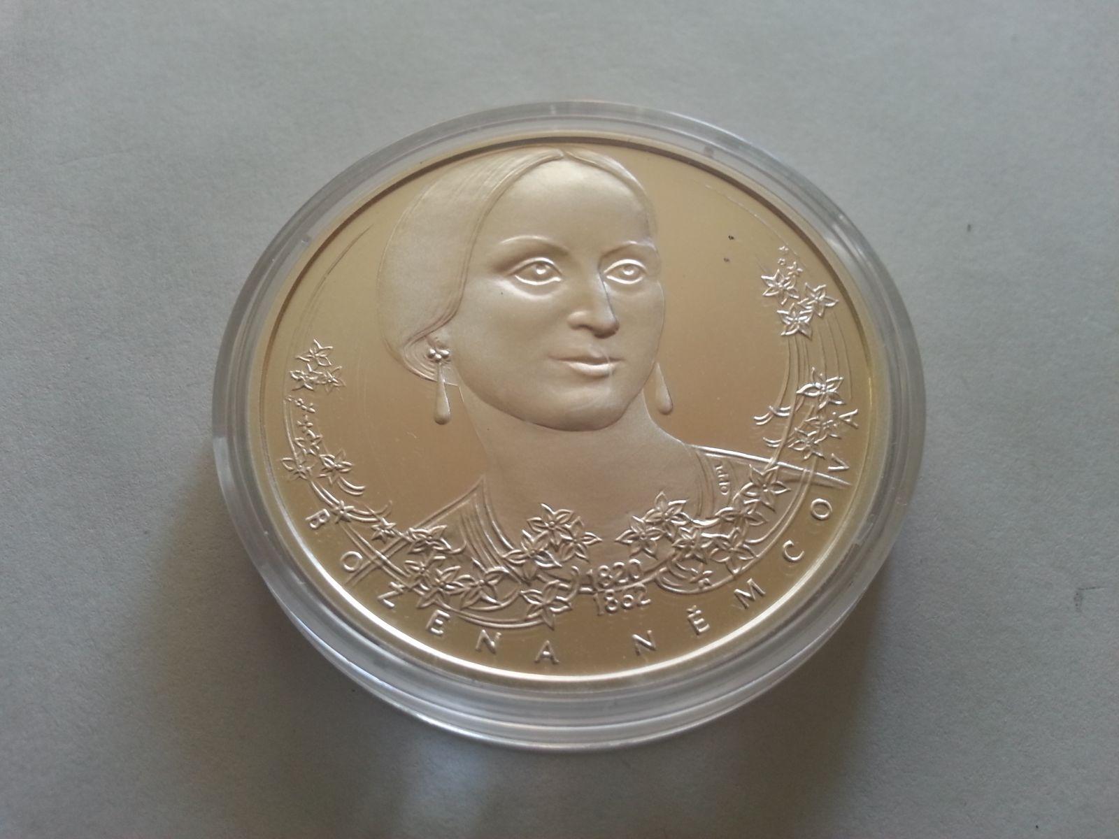 Božena Němcová, (průměr 40mm), Ag medaile, ČR