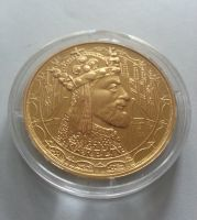 Karel IV., zlacená medaile, (průměr 40mm), největší osobnosti, ČR