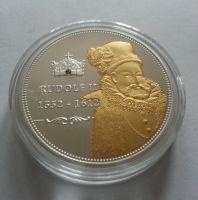 Rudolf II., zlacená medaile, (průměr 40mm), čeští panovníci, ČR