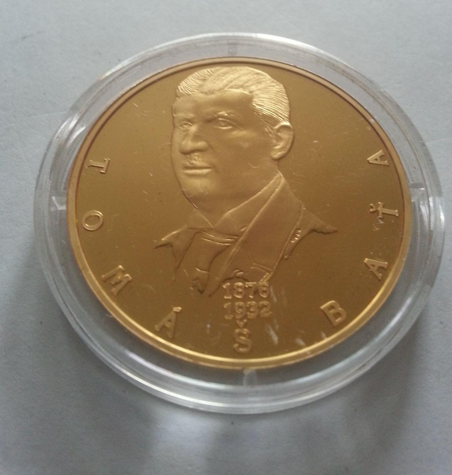 Tomáš Baťa, zlacená medaile, (průměr 40mm), největší osobnosti, ČR