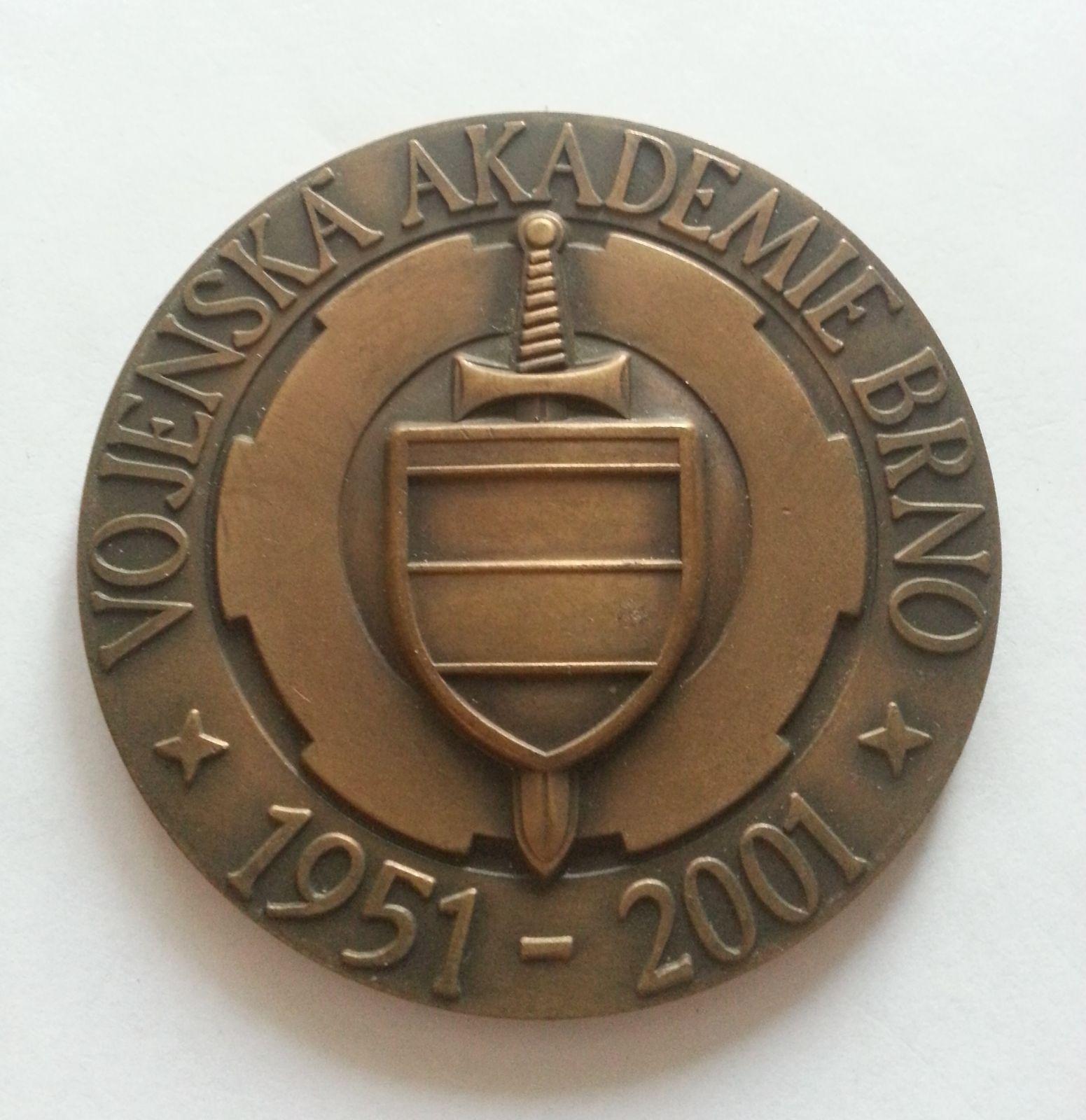vojenská akademie Brno, (průměr 70 mm), 1951-2001, ČSSR