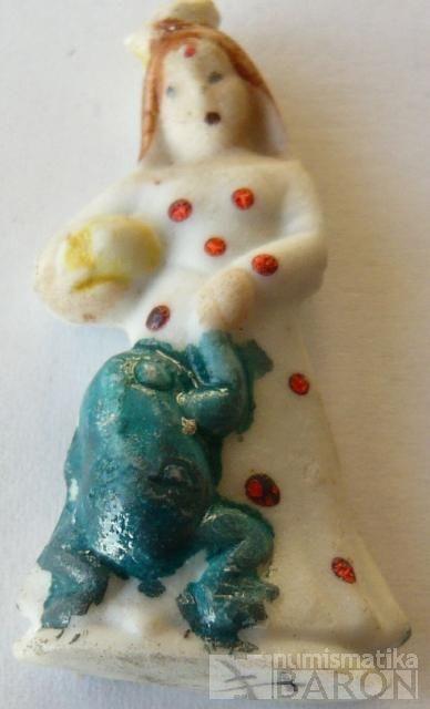 III. říše, zimní pomoc - figurka princezna+žabák