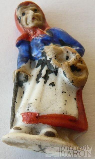 III.říše, zimní pomoc - figurka čarodějnice