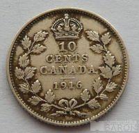 Kanada 10 C 1916 Jiří V.