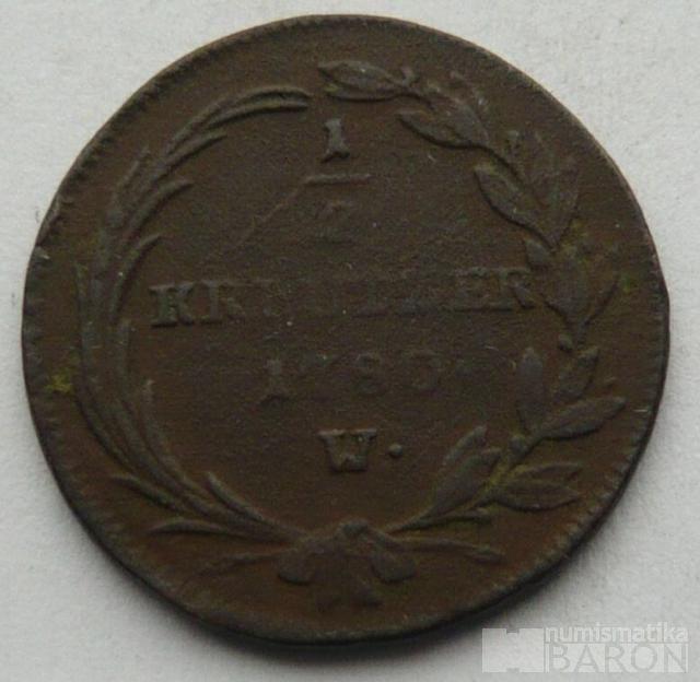 Rakousko 1/2 Krejcar Marie Terezie 1780 W