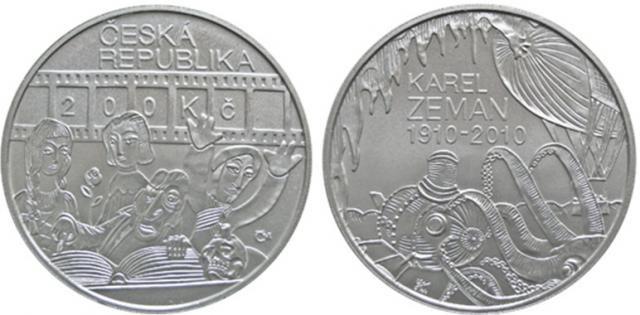 200 Kč(2010-Karel Zeman), stav bk, certifikát