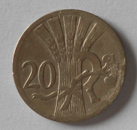 ČSR 20 Haléř 1925 STAV