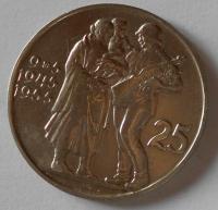 ČSR 25 Kčs – osvobození 1955