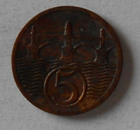 ČSR 5 Haléř 1928