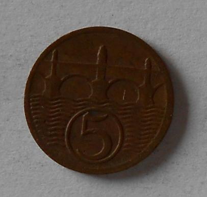 ČSR 5 Haléř 1929