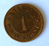 Dánsko 1 Skilling 1867