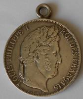 Francie 5 Frank 1845 Ludvík Filip