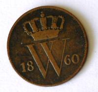 Holandsko 1 Cent 1860