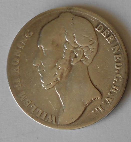 Holandsko 1 Gulden 1847 Vilém II.