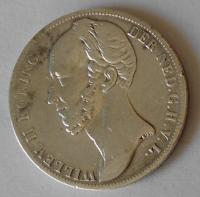 Holandsko 1 Gulden 1848 Vilém II.