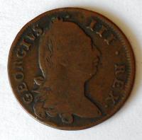 Irsko 1/2 Penny 1775