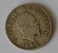 Itálie 50 Cent 1863 Viktor Emanuel II.