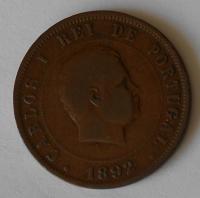Portugalsko 20 Reis 1892