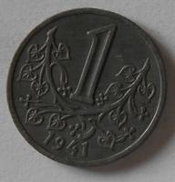 Protektorát Čechy a Morava 1 Kč 1941 STAV