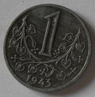 Protektorát Čechy a Morava 1 Kč 1943