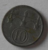 Protektorát Čechy a Morava 10 Haléř 1940