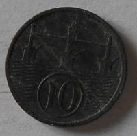Protektorát Čechy a Morava 10 Haléř 1942