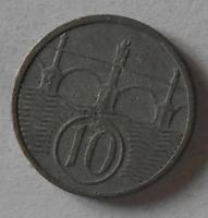 Protektorát Čechy a Morava 10 Haléř 1944