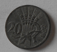 Protektorát Čechy a Morava 20 Haléř 1941