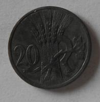Protektorát Čechy a Morava 20 Haléř 1943 STAV