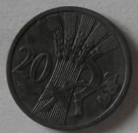 Protektorát Čechy a Morava 20 Haléř 1944 STAV