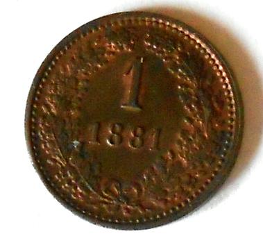 Rakousko 1 Krejcar 1881