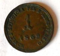 Rakousko 1 Soldo 1862 A