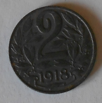 Rakousko 2 Haléř 1918 STAV