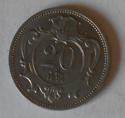 Rakousko 20 Haléř 1894 STAV
