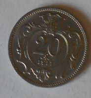 Rakousko 20 Haléř 1911 STAV
