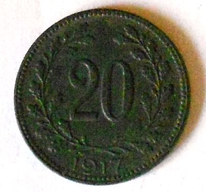Rakousko 20 Haléř 1917 STAV