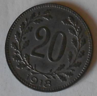Rakousko 20 Haléř 1918 STAV