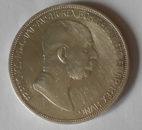 Rakousko 5 Korun 1848-1908 60 let vlády STAV