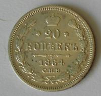 Rusko 20 Kopějka 1864
