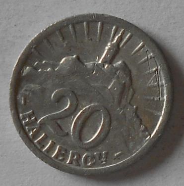 Slovensko 20 Haléř Al 1942 STAV