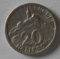 Slovensko 20 Haléř Al 1943