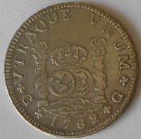 Španělsko – KOPIE 8 Real 1762 Carol III.
