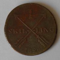 Švédsko 1 Skilling 1828