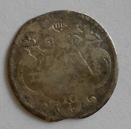 Švýcarsko 10 a 1/2 Sols 1714-15 Kanton Ženeva