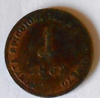 Uhry 1 Soldo 1862 B