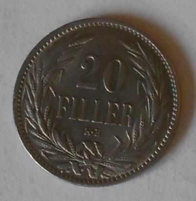 Uhry 20 Fillér 1894 KB STAV