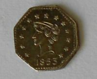 USA 1/4 Dolar 1853 Au novoražba