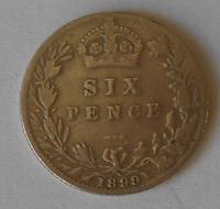 Anglie 6 Pence 1899 Viktorie